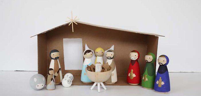 Manualidades Del Portal De Belén Para Niños Ocio En Casa Manualidades Artesanías Navideñas Navidad Diy