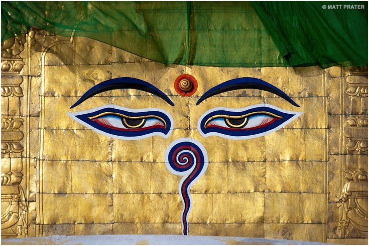 Buddha Eyes at Swayambhunath Stupa. I want this as my next tattoo