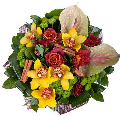 Букеты с орхидеями и антуриумом