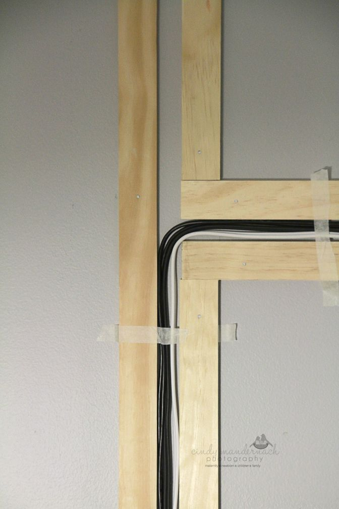 Hiding wires for wall mounted tv