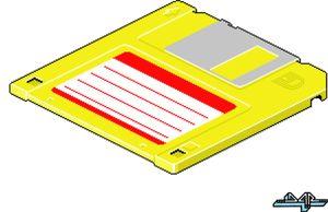 Yellow Floppy Disk by darokin