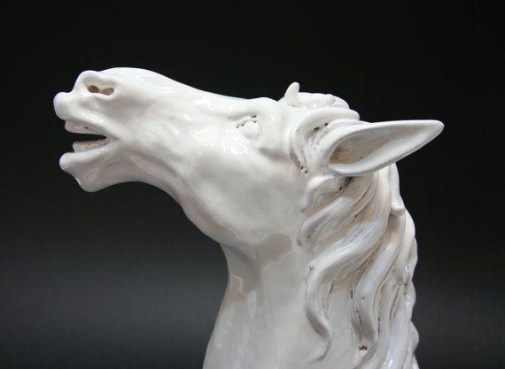 Testa di cavallo in Ceramica di Caltagirone di ArtCeramicJewelry