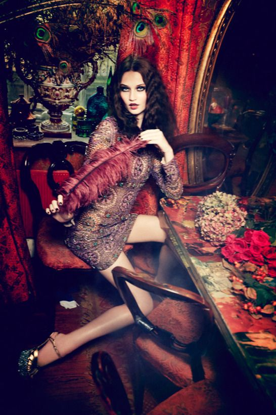 """""""Flowers of Desire"""": Isabel Scholten, Lieke Van Houten by Ellen von Unwerth for Vogue Japan, July 2015"""