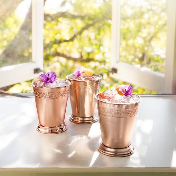 Absolut Elyx Julep Cups Gift Set Flower and Ginger cocktail