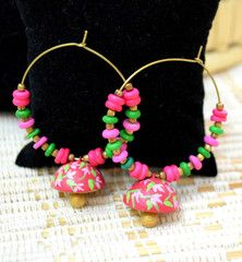 Gorgeous Earrings, Terracotta it is from West Of Bengal. Shop today at our online store - www.CraftsandLooms.com
