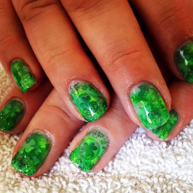 St Patrick S Day Gel Nails Best Nail Designs 2018