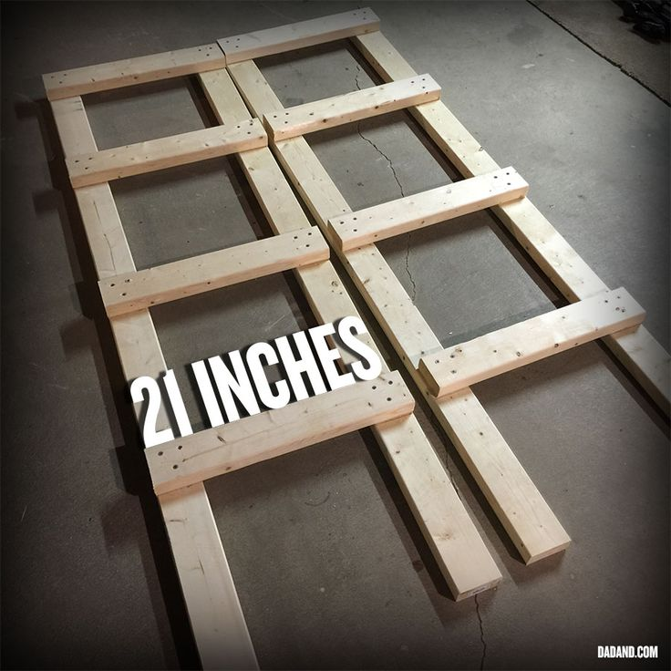 Partial Assembly Of Freestanding DIY 2x4 Shelves. Storage