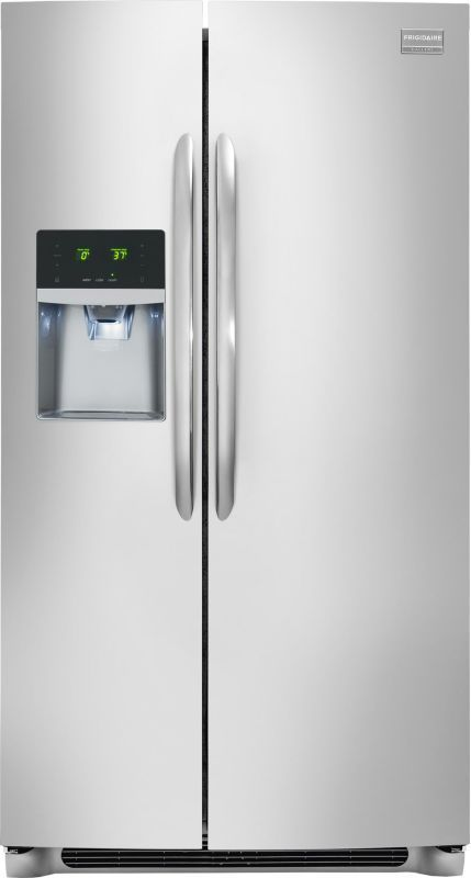 Frigidaire FGHS2631P 26 Cu.Ft. Standard-Depth Side-By-Side Refrigerator Stainless Steel Refrigerators Side By Side Fridge