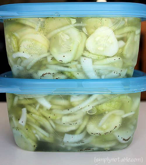 Great Grandma's Freezer Pickles Recipe
