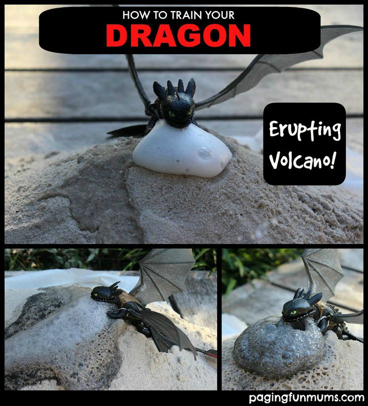 How To Train Your Dragon - DIY Erupting Volcano! Perfect science activity for every Dragon loving child!!