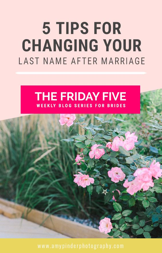 5 Tips for changing your name after marriage in Ontario, The Friday Five weekly tips for brides and newleyweds