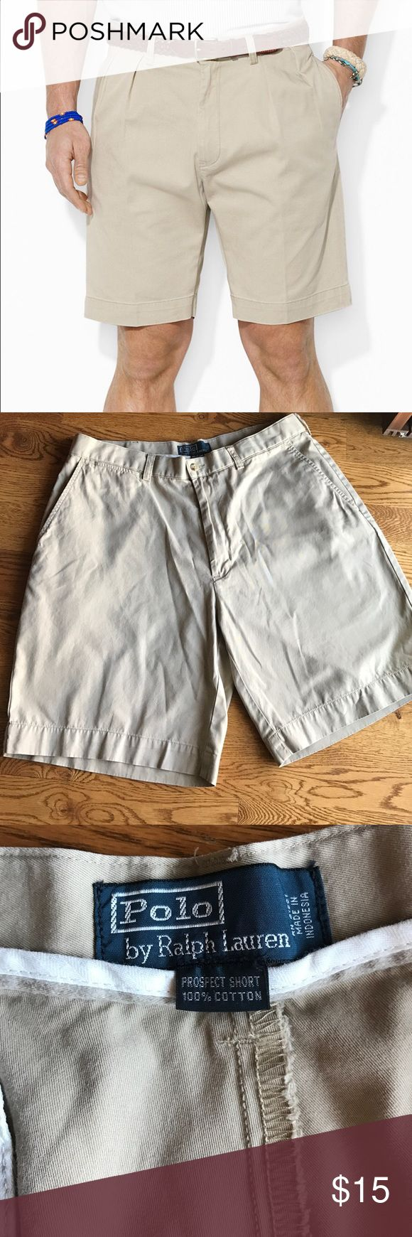 Polo Men's Dress shorts Excellent condition, Polo by Ralph Lauren tan dress men's shorts. Size 36. Discounts available if purchased in a bundle. Polo by Ralph Lauren Shorts Flat Front