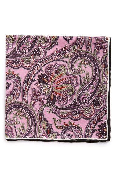 Men's John W. Nordstrom Silk Pocket Square - Pink