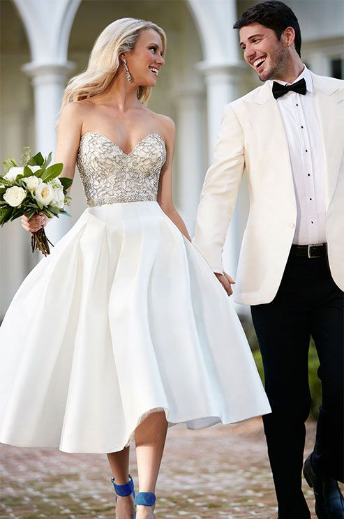 237 best short wedding dresses images on pinterest wedding frocks a moonstone bodice is a perfectly unexpected pairing with this vintage inspired skirt junglespirit Images