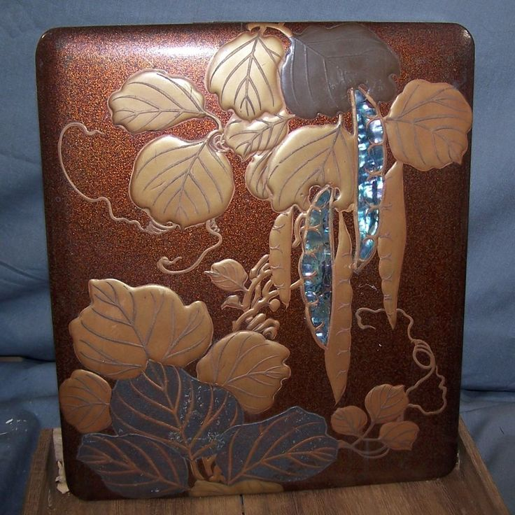 Japanese Edo Korin Inlaid Maki-e Lacquer Wood Writing Box-Inkstone-Water Dropper #Korin