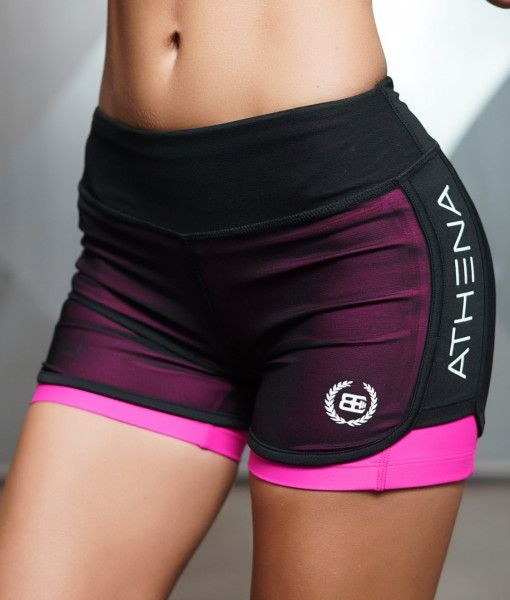 LOTUS Leto  – PINK 2 in 1 Short – Body Engineers International SHOP