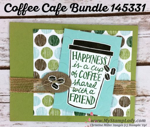 Stampin' Up! Coffee Cafe and Coffee Break paper. Find supplies at www.shopwithmystamplady.com