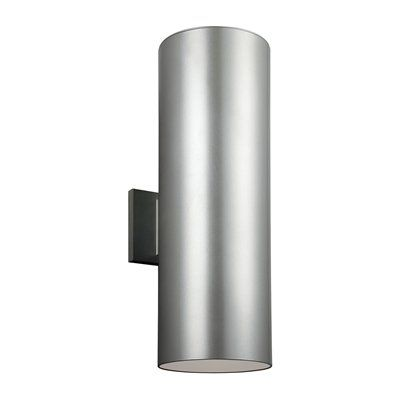 Sea Gull Lighting 8313902 Outdoor Bullets Large 2 Light Outdoor Wall Sconce