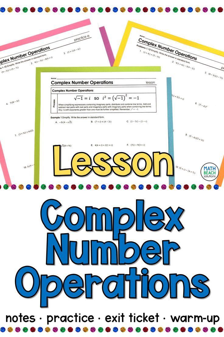 Pin On Texas Algebra 2 Curriculum Adding subtracting multiplying complex