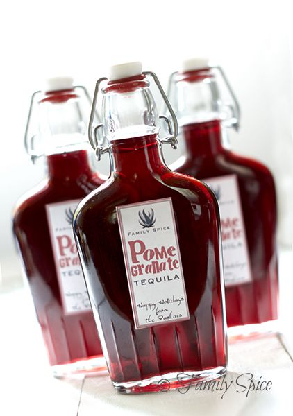 Homemade Pomegranate Tequila
