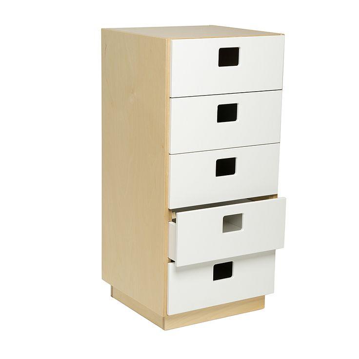 Byrå 5 lådor hurts förvaring barn skolbarn lärare förskolemöbler skolmöbler inredning montessori design