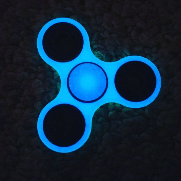 Glowing Spinner Fidget by Toy 2-Tone (Green/Blue) The ultimate hand fidget toy- Dizzy Spinners. Keep your hands busy and your mind clear.... www.dizzyspinners.com