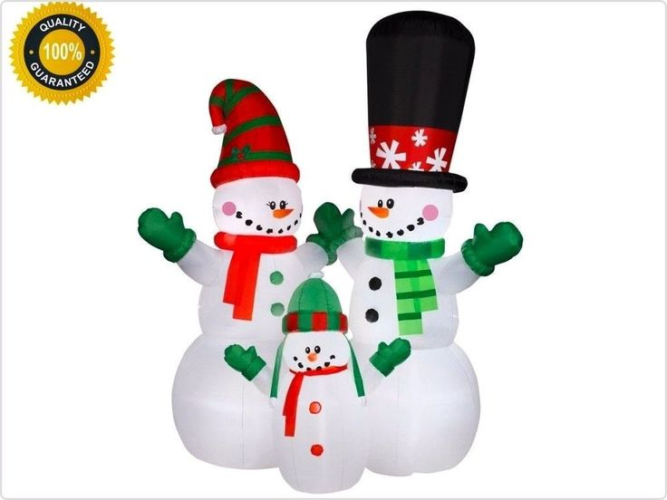 Elegant #Holiday #Decoration 12ft #Inflatable #Snowman #Family #Christmas #Outdoor New
