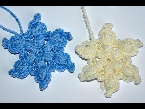 "Adventkalender 15 * Häkelstern ""Cipollina"" Beautiful crochet flowers:  youtube video tutorial!"