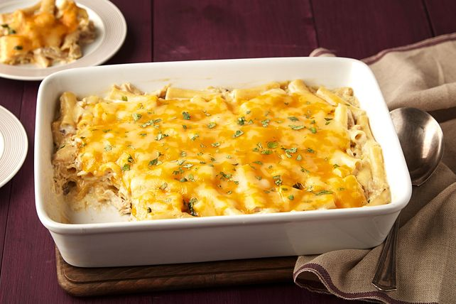 Serve up something unexpected with our Creamy Chicken, Green Chile & Ziti Casserole. This hearty ziti casserole has just the right amount of heat.
