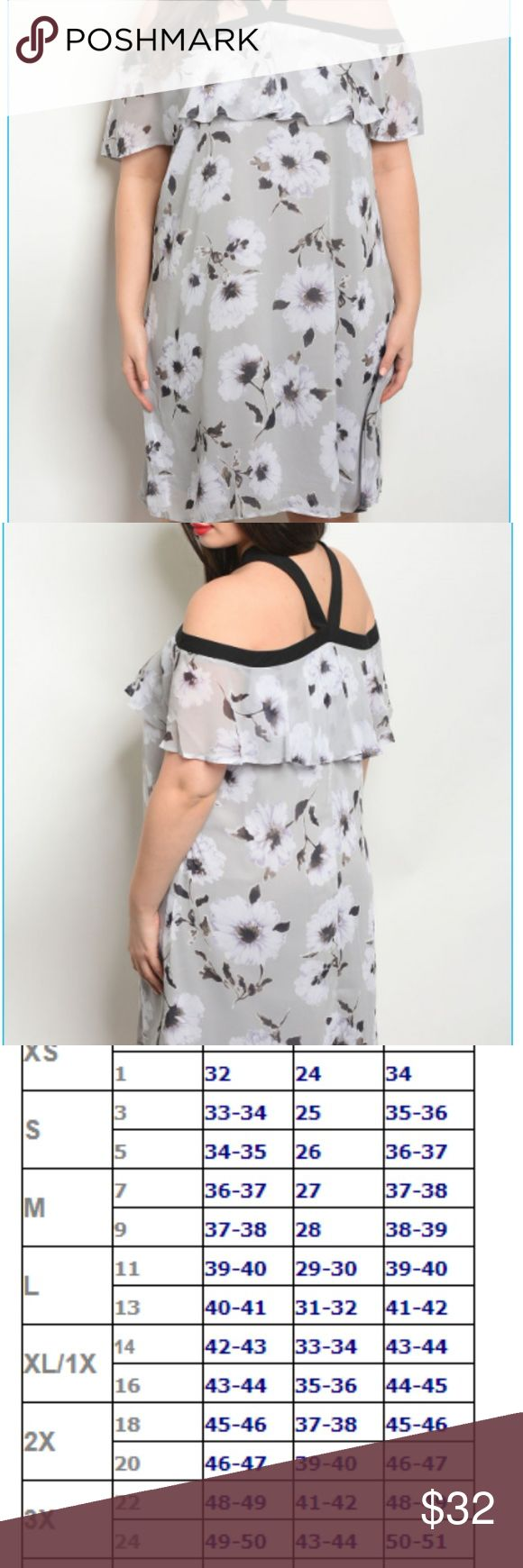 GRAY FLORAL PLUS SIZE DRESS OFFERS ARE WELCOME! Plus size sleeveless halter neck... 2
