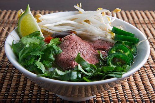 Pho Bo (Vietnamese Beef Noodle Soup), traditional