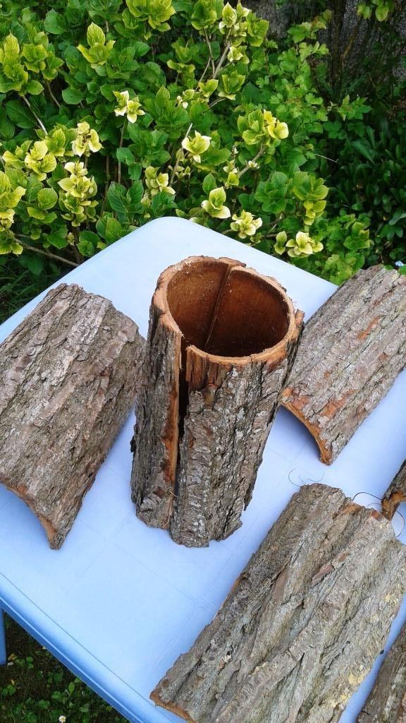4) Ecorces d'arbre pour l'habillage de la fontaine