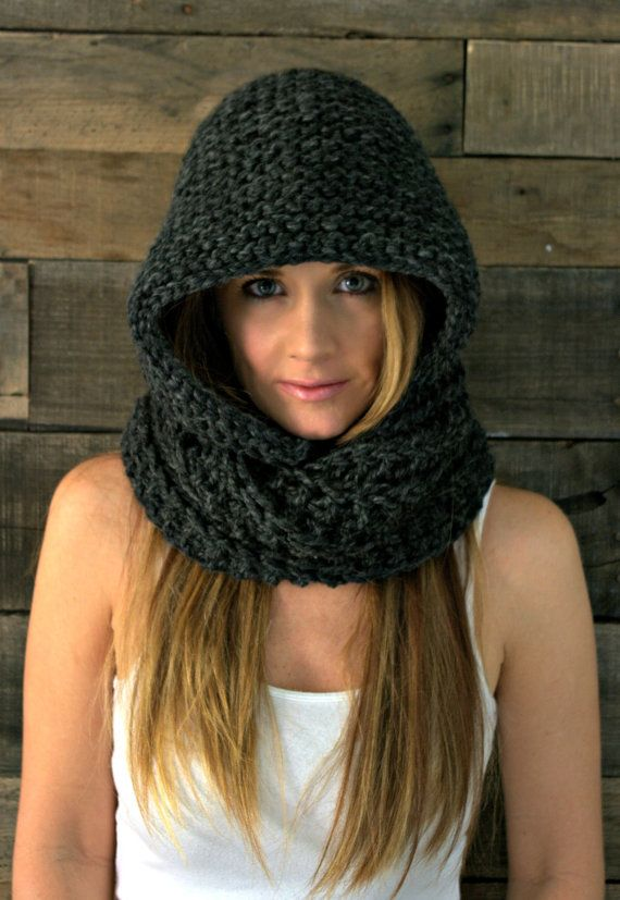 Chunky Hooded Cowl Infinity Scarf / THE EMPIRE / by KittyDune *Salt springs, Stone Quarry, Black River, or Wheatland