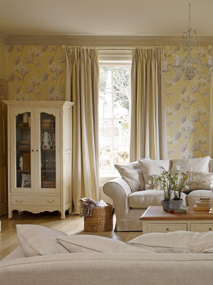Laura Ashley Millwood Wallpaper WALLPAPER Pinterest Laura - Laura ashley grey living room