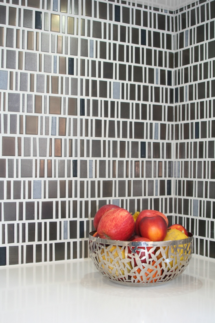 Designed by White Pebble Interiors: Handmade Italian tiles to create a kitchen splashback.