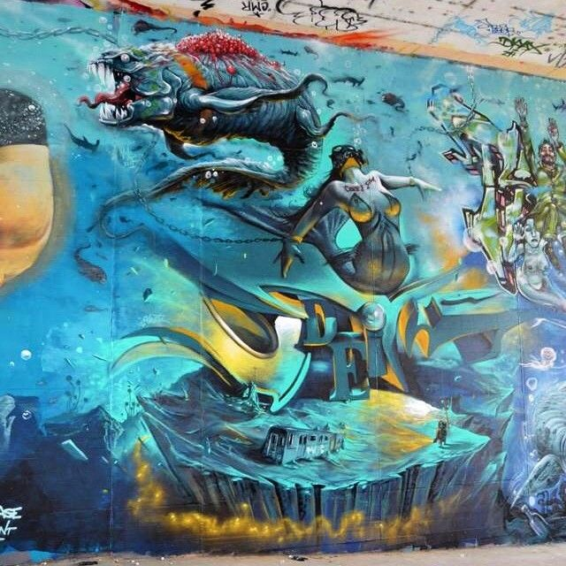 Best Odeith Images On Pinterest Artists Beautiful And - Incredible forced perspective graffiti artist odeith