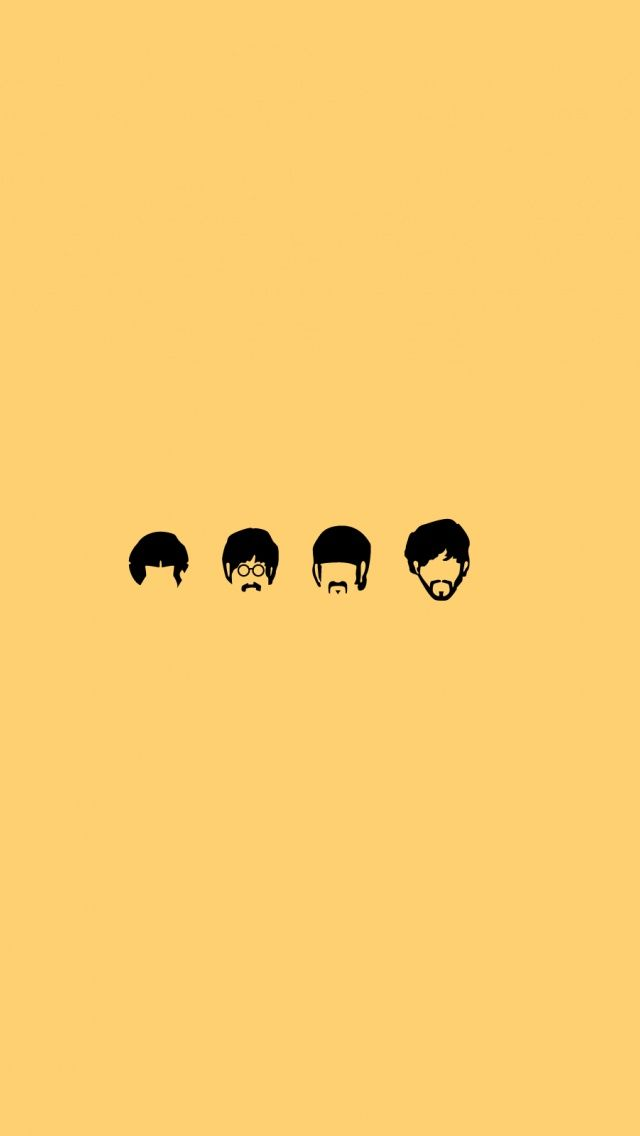 The Beatles / Find more #Minimalistic #iPhone + #Android #Wallpapers and #Backgrounds at @prettywallpaper