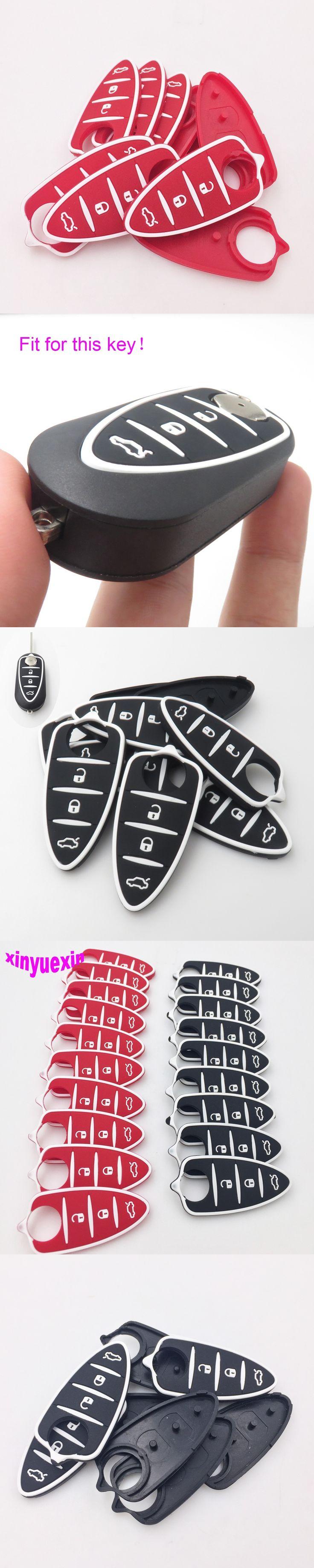 Xinyuexin Silicone Car Key Pad For Alfa Romeo 4C Mito Giulietta Myth 159 GTO GTA Flip Remote Car Key