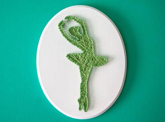 Ballerina String Art by LeynaRosePhotography on Etsy