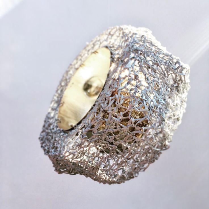 "Laura Stefani, Eva Franceschini, bracelet ""Biancolatte"", plastic, silver, 2013."