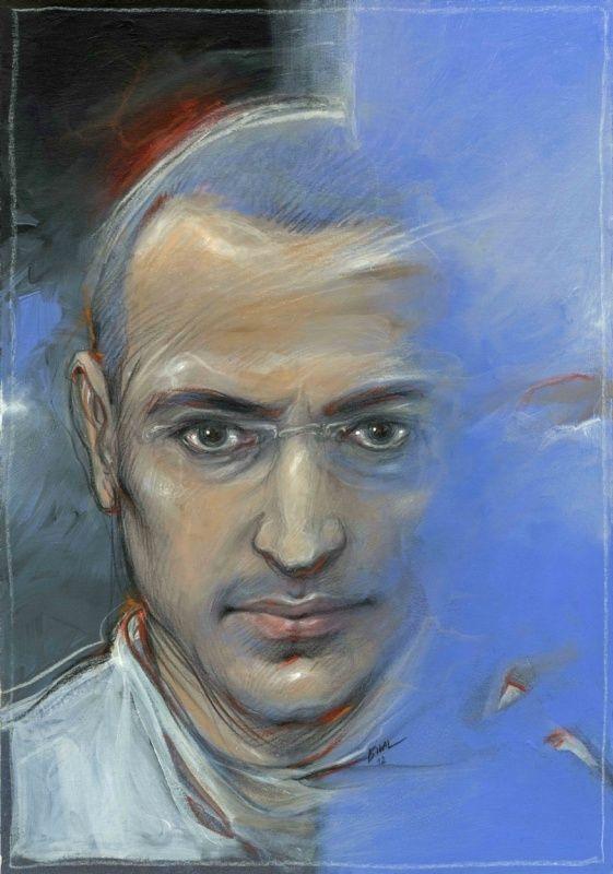 """Œuvre originale par Enki Bilal dans la catégorie Illustrations. Portrait de Mikhaïl Khodorkovski par Enki Bilal. Quand l'auteur de """"Partie de Chasse"""" capte les traits d'un autre """"oligarque"""" victime d'un complot au plus haut niveau du Kremlin...  P..."""