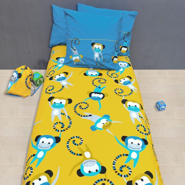 Les 12 meilleures images propos de linge de lit color for Housse de couette enfant jungle