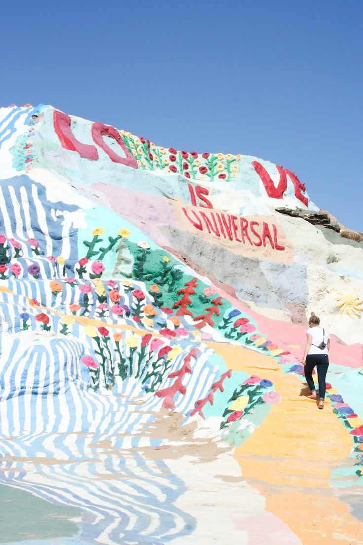 Salvation Mountain near the Salton Sea and Palm Springs // Salty Canary