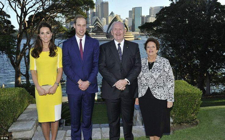 George waited with his nanny while the Duke and Duchess of Cambridge posed with the Governor-General Sir Peter Cosgrove and Lady Cosgrove at...