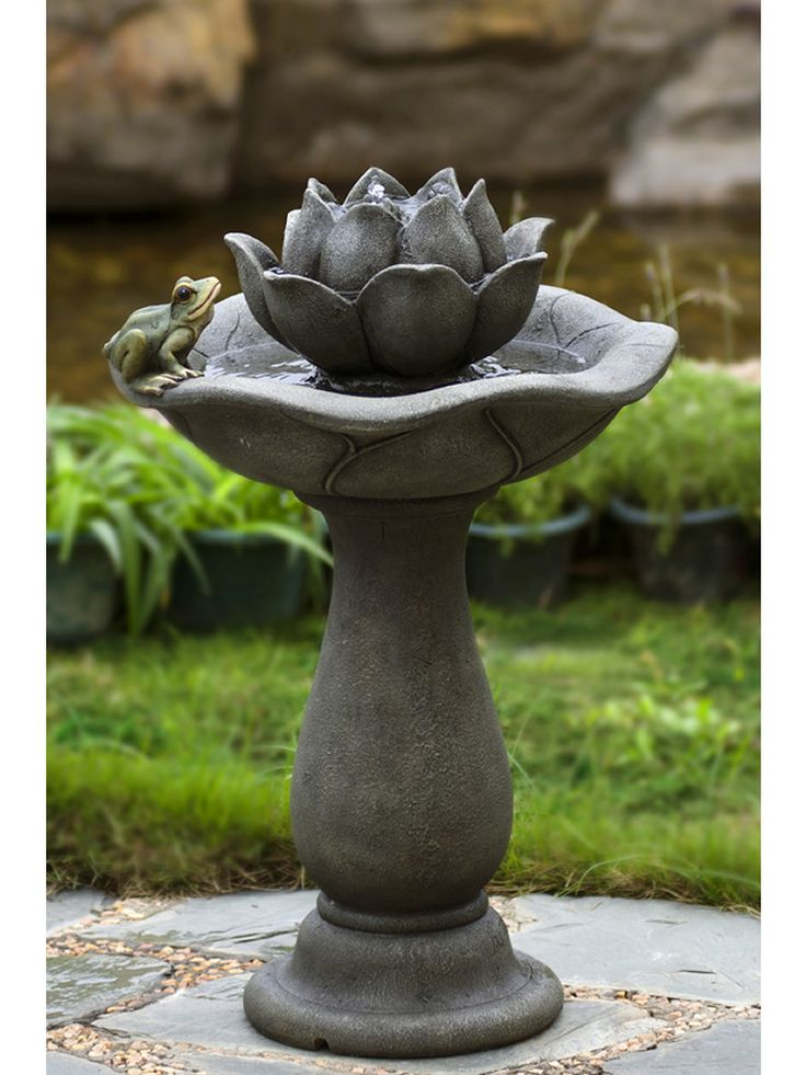 Lotus Flower And Frog Water Fountain Water Fountains