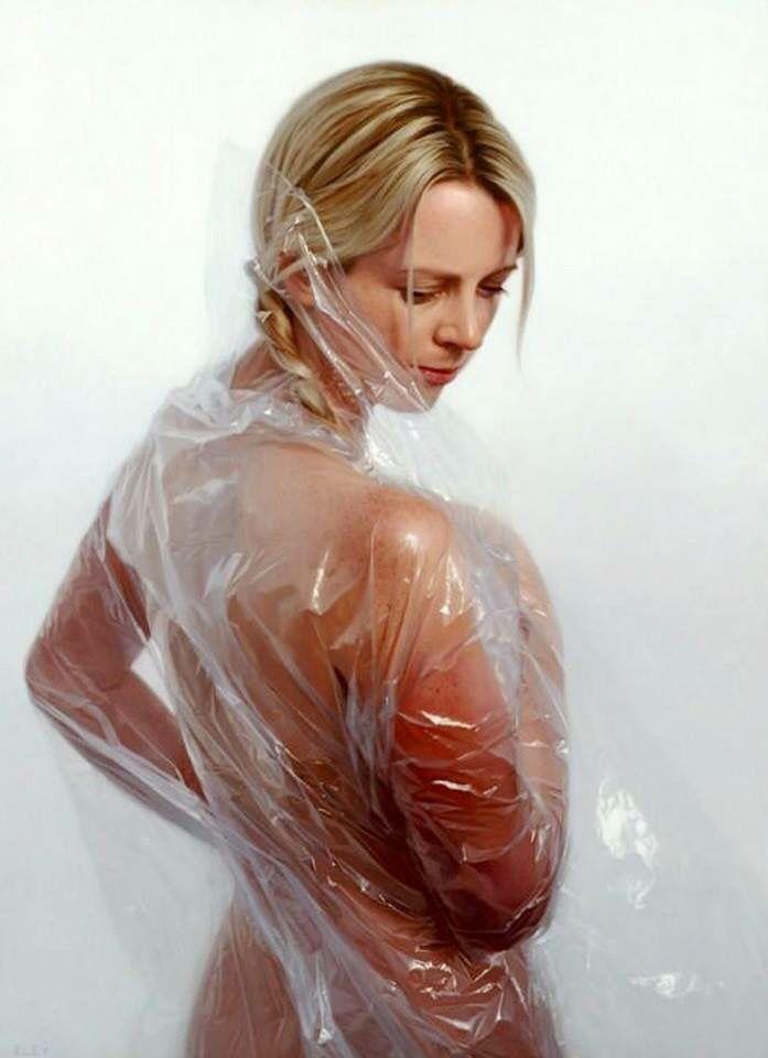 Pinturas de Mujeres Hiperrealismo Óleo. Pintados por Robin Eley Londres.
