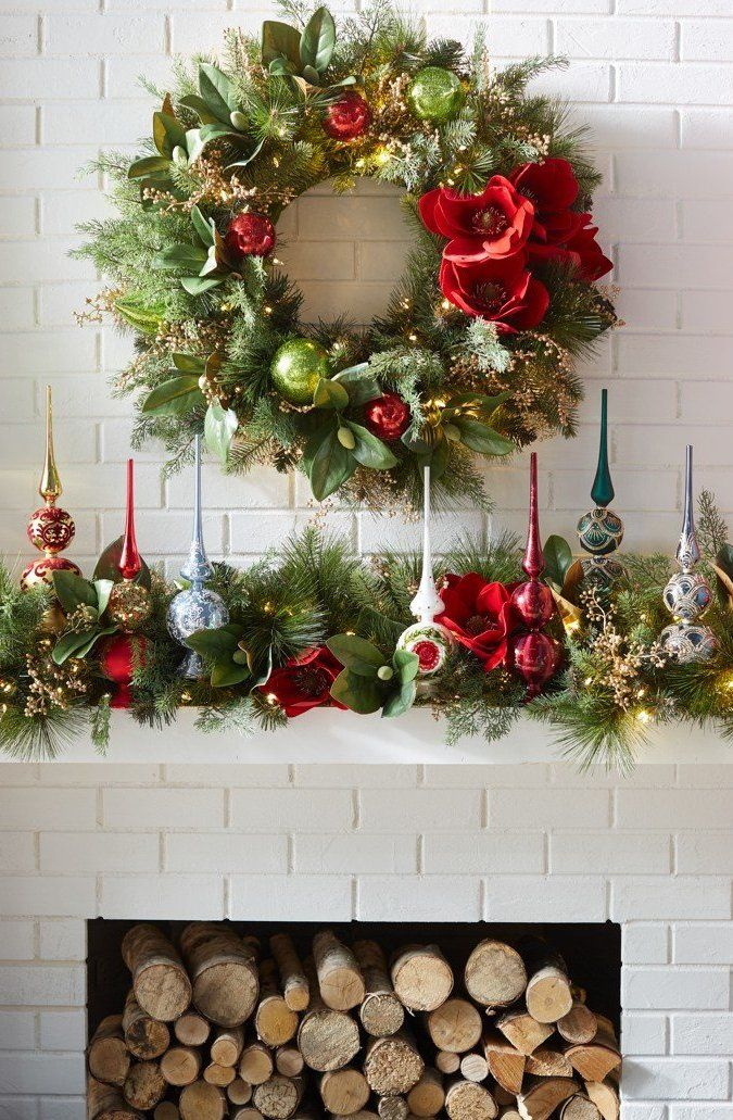 Tree Toppers From Frontgate Christmas Floral Holiday Decor Holiday Mantel