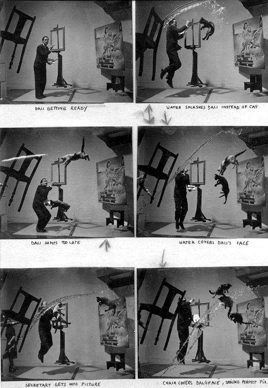 Salvador Dali & Cats: Salvador Dali, Dalí Atomicus, Contactsheet, Contact Sheet, Magnum Photos, Philippe Halsman, Whether Atomicus, Salvador Dali, New Books