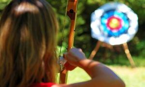 Groupon - Archery Lesson for Two with Gear, or Two Months of Range Access with Gear at Roadrunner Archery Club (Up to 54% Off) in Otay Ranch. Groupon deal price: $35