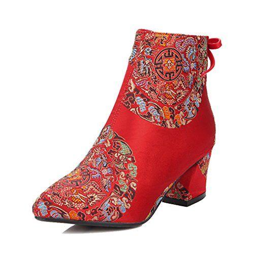 ENMAYERレッドENMAYER女性のための中国のスタイルの新しいファッション冬の足首のブーツ花のジッパーの魅力... https://www.amazon.co.jp/dp/B01N1M0IUQ/ref=cm_sw_r_pi_dp_x_zD5pybHZRB8RD